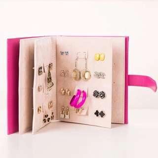 耳環耳針收藏本 外出攜帶方便 首飾品收納盒收納書展示盒