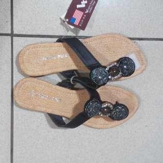 (全新)黑色渡假風涼鞋