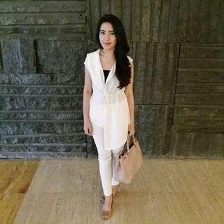 White Layered Vest