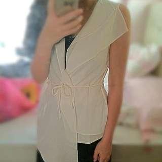White Layered Vest 😍