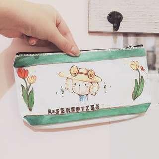(自製)手繪tulip筆袋🌿