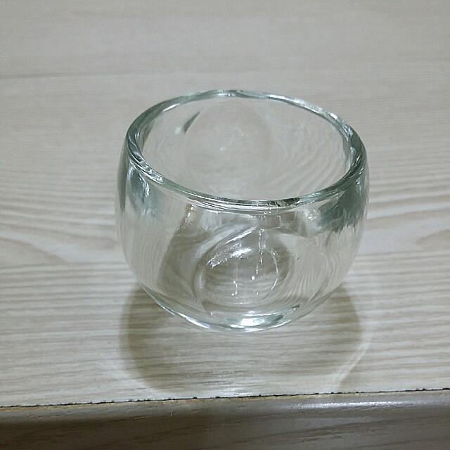 全新簡約透明蠟燭座
