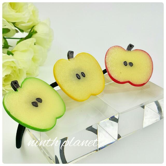 韓版。小清新蘋果片髮束