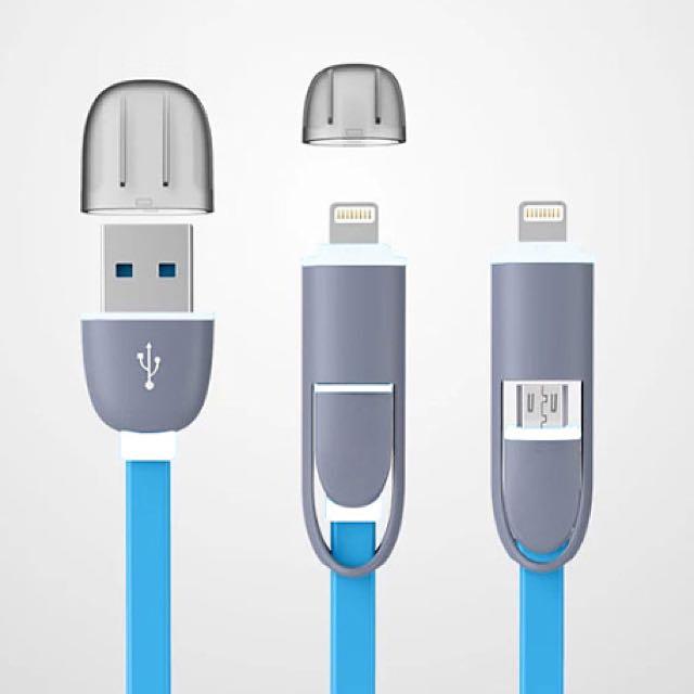 ✨全新現貨✨二合一雙接頭充電線