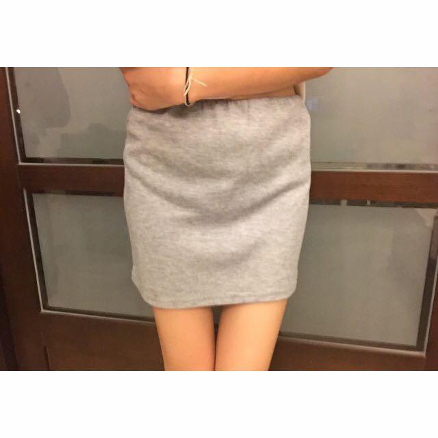 灰色棉質窄裙