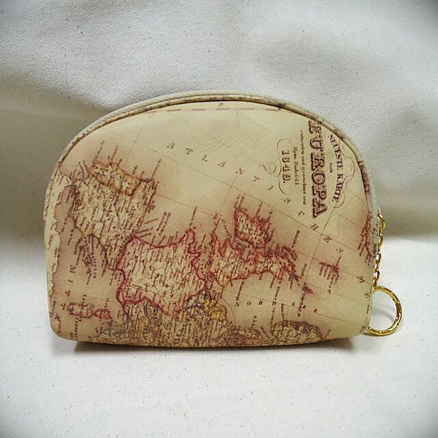 (全新)韓國製牛皮貝殼零錢包 小化妝包