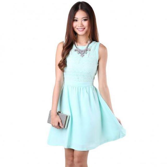 BNIB MGP - Lucetta Lace Dress in Mint