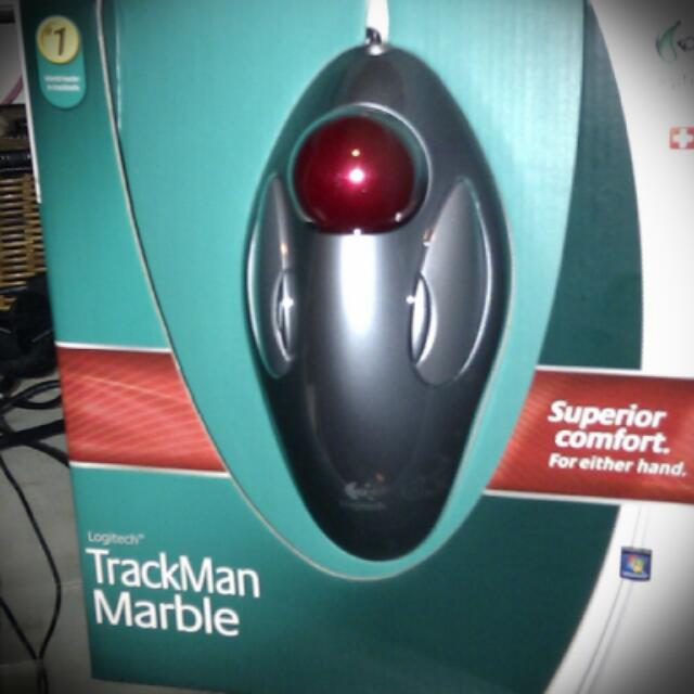 94e77802112 BNIB Logitech Trackman Marble Track Scroll Ball Mouse (Cheapest On ...