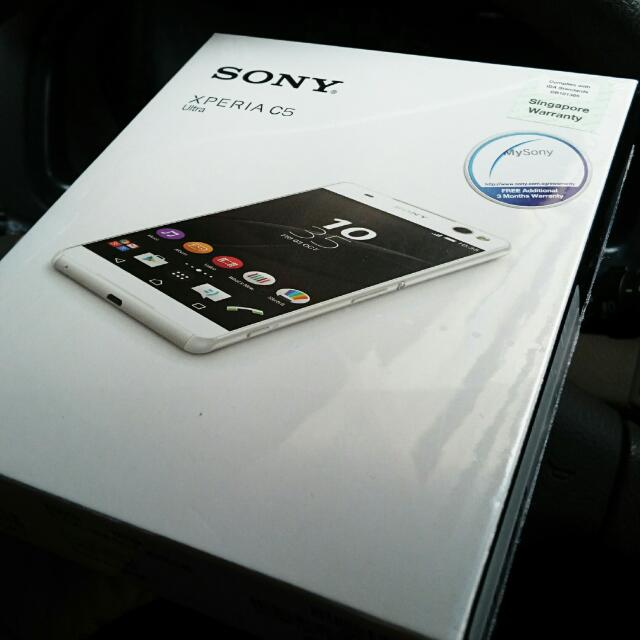 RESERVED - Brand New (SEALED) Sony Xperia C5 ULTRA (White)