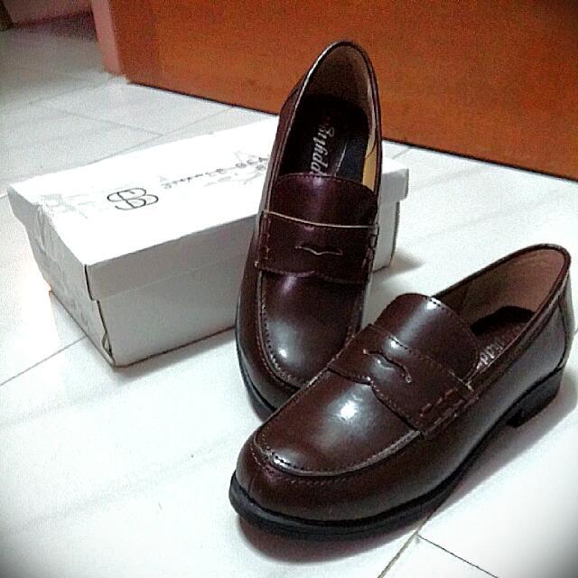 ffbf1416ce Japanese School Shoes Loafers (Dark Brown)