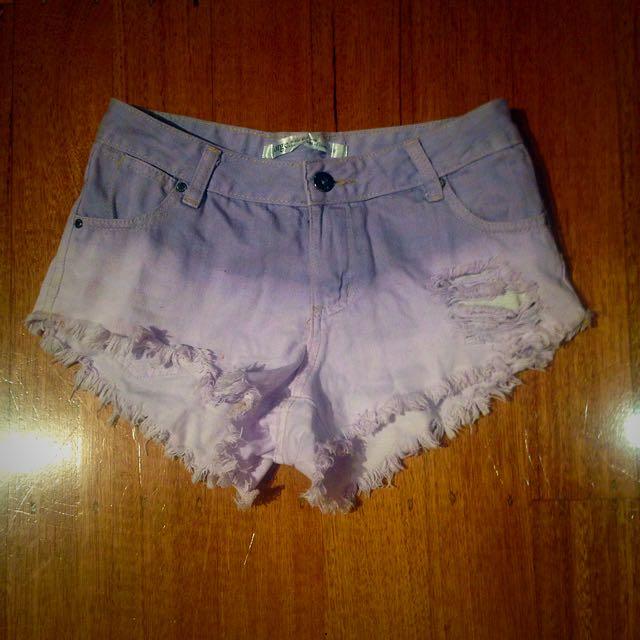JORGE Purple Tie Dye Shorts