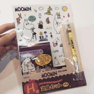 MOOMIN 慕敏 嚕嚕米 文具套組 日本一番賞