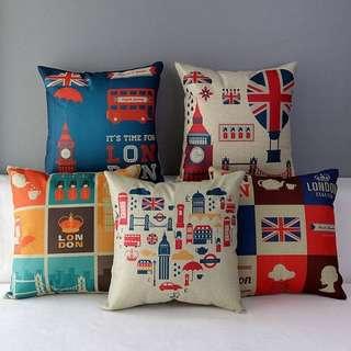 簡約自然風方形棉麻 英倫系列抱枕(含枕芯)/枕套/枕芯/枕頭/靠枕