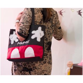米奇 kitty 帆布包單肩包 豎款手提大包 學生 書包 男包 購物袋(含運)
