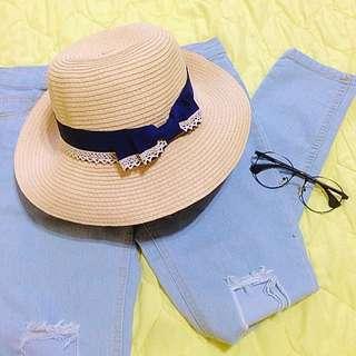 (保留)🔛夏日小帽簷草帽