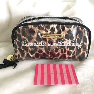 ✅Victoria's Secret Makeup Pouch Cosmetic Bag Pencil Case