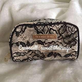 ✅InStock Victoria's Secret Lace Makeup Pouch Cosmetic Bag Purse