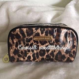 ✅InStock Victoria's Secret Leopard Makeup Pouch Cosmetic Bag