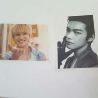 SHINee's Taemin and Calvin Chen photo card with laminated (small)