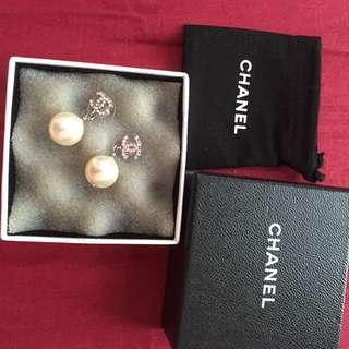 Authentic Chanel Pearl Drop Earrings