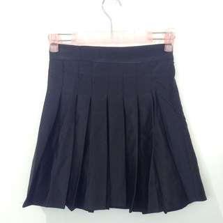 全新黑色百折裙