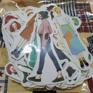 滿千元加購~甜蜜生活/女子亥全身92張全套女孩貼紙