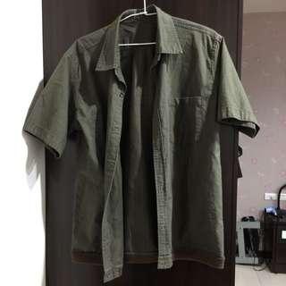 正反兩穿男性休閒襯衫
