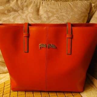 Folli Follie 經典橘色時尚拖特包 tote 希臘時尚品牌