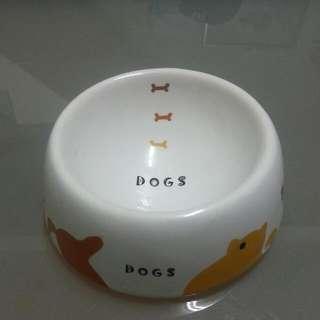 <二手>陶瓷寵物餐碗