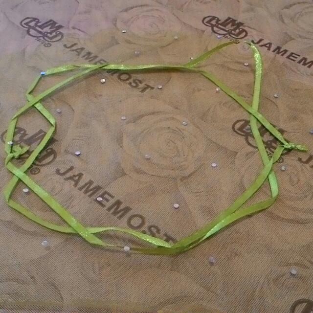 綠色圓形雪紗袋,紗網袋,香磚小物