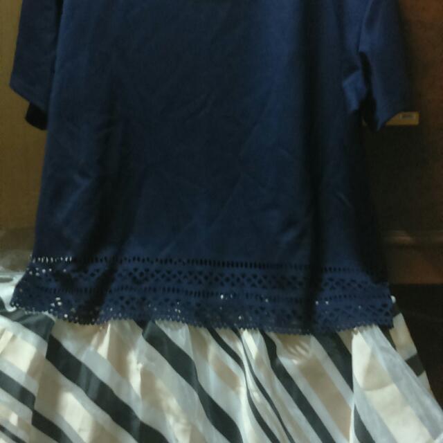 (大碼4XL)兩件式裙套裝(全新)
