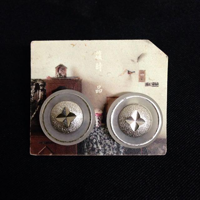 復時品 全新 耳環 轉賣 復古 針式