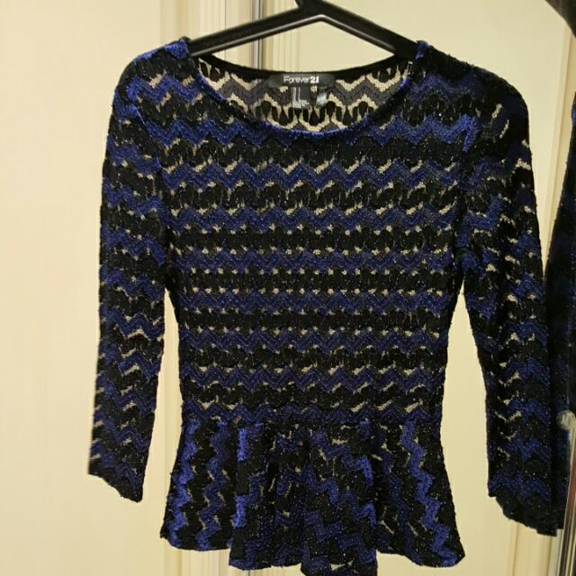 Black And Blue Blouse