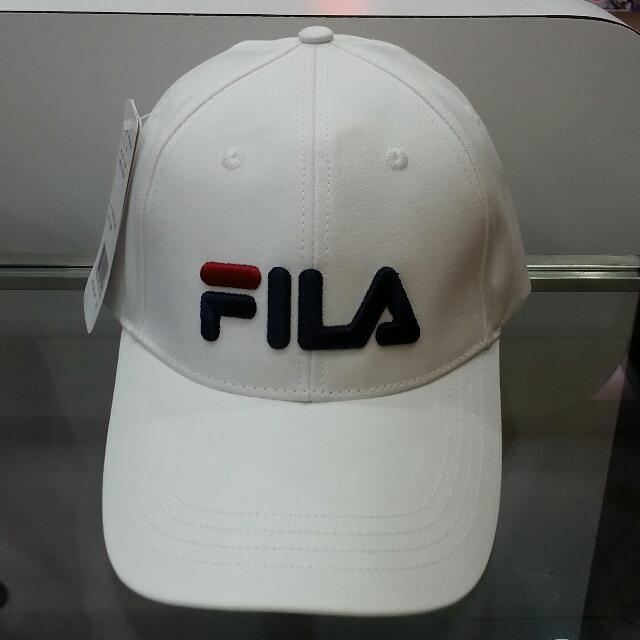 Fila 電繡logo 全白 棒球帽