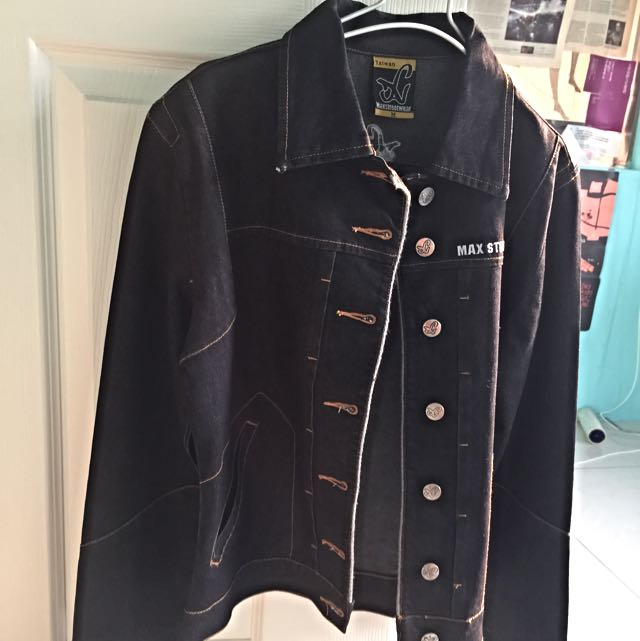 (待匯款)(全新)MAX黑色牛仔外套