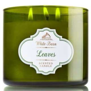 Bath and Body works 3 Wick Candle In Leaves