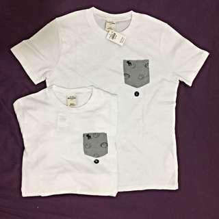 A&f T-shirt情侶衣 Abercrombie Kids
