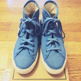 Converse All Star 矢車菊水藍高筒帆布鞋