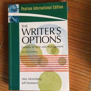 Writing's Options