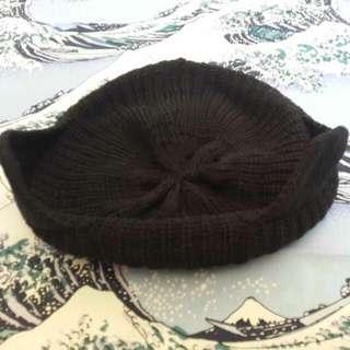 黑色 貓耳 毛線帽