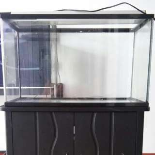 2 Ft Tank With Cabinet Plus Light N Pump
