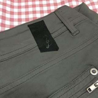 歐洲品牌 音符岩灰色蜜桃絨休閒長褲