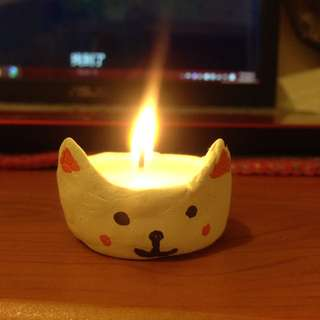 貓咪蠟燭 燭台