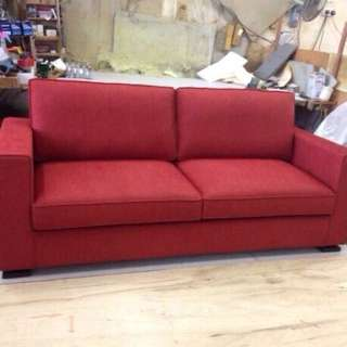 2nd Hand Frame 3 Seater Sofa, Brand New Covers