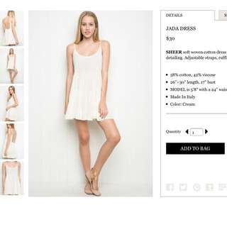 Brandy Melville Jada Dress (in white)