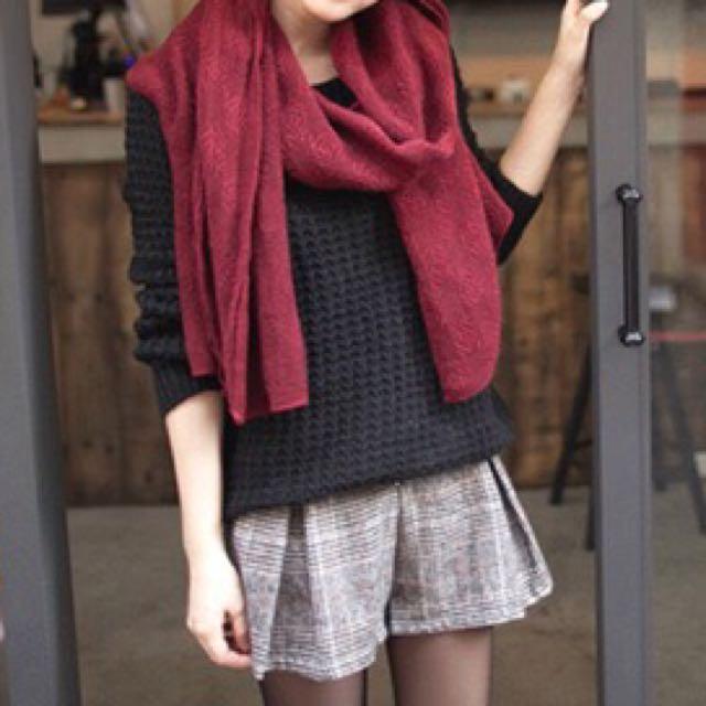 黑色針織毛衣