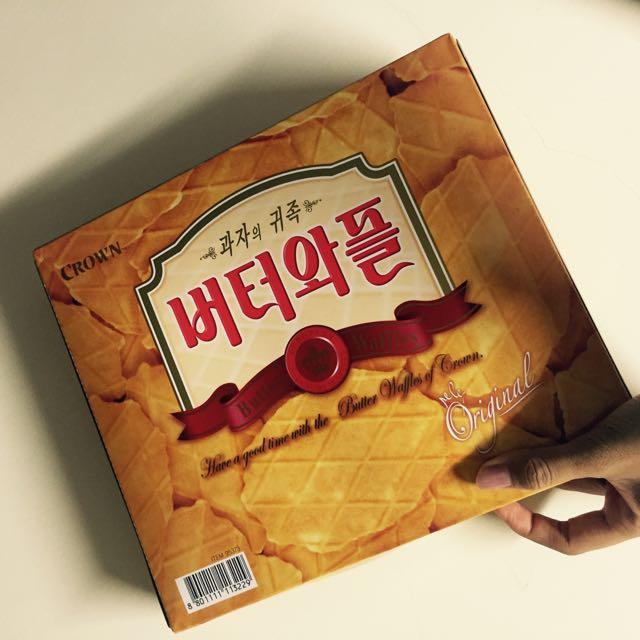 韓國🇰🇷皇冠鮮奶油鬆餅
