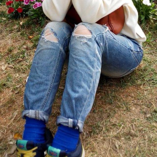 【92二手】降價 正韓 東大門 Yanu Jeans 超顯瘦 牛仔褲