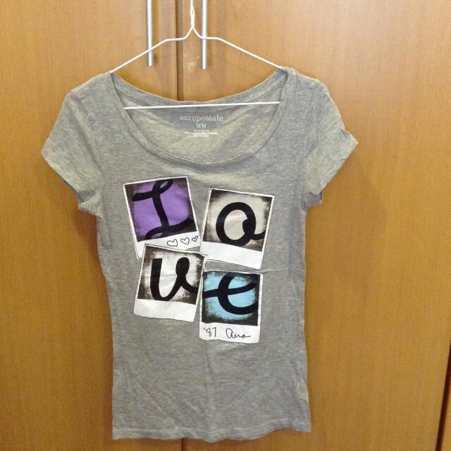 aeropostale灰色tshirt(M)