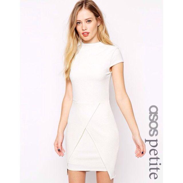 現貨Asos Petite 米白色交叉立體織紋洋裝 Uk8